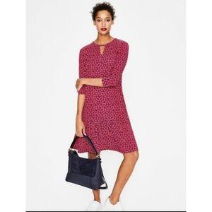 Boden Selena Jersey Dress Fluted Hem 8R